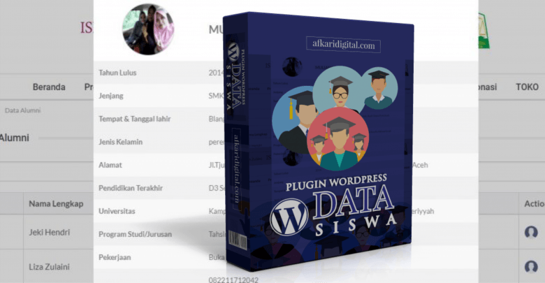 plugin data siswa wordpress