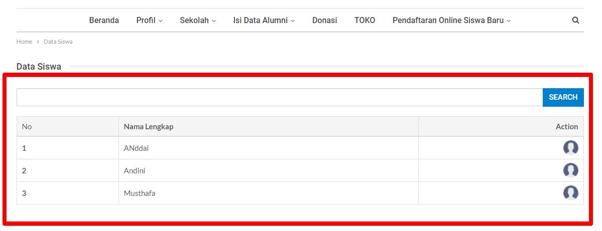 plugin data siswa wordpress