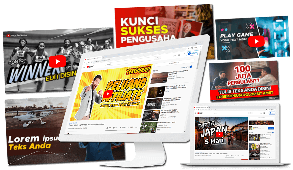 template promosi powerpoint thumnail youtube